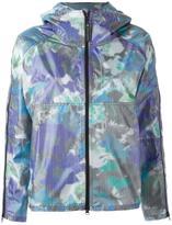 adidas by Stella McCartney purple bloom run jacket - women - Polyester/Polyurethane - XS