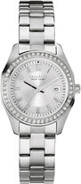 JCPenney CARAVELLE, NEW YORK Caravelle New York Womens Crystal-Accent Stainless Steel Bracelet Watch 43M108