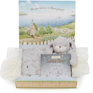 Bunnies by the Bay Twinkle Tuck Me In Blanket, Stuffed Animal & Book Set