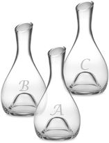 Susquehanna Glass Monogrammed Script Letter Punted Carafe