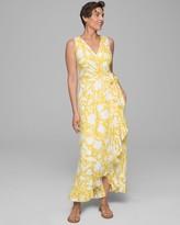 Enbliss Double Lined Ruffle Trim Maxi Dress