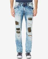 Buffalo David Bitton Men's Evan-x Slim-Straight Fit Stretch Ripped Jeans