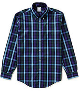 Brooks Brothers Non-Iron Regent Fit Gingham Long-Sleeve Woven Shirt