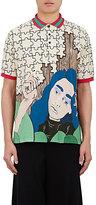 J.W.Anderson Men's Puzzle-Print Piqué Polo Shirt