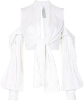 Silvia Tcherassi Matinata cropped cotton shirt