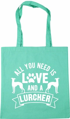 Hippowarehouse All you need is love and a Lurcher Tote Shopping Gym Beach Bag 42cm x38cm 10 litres