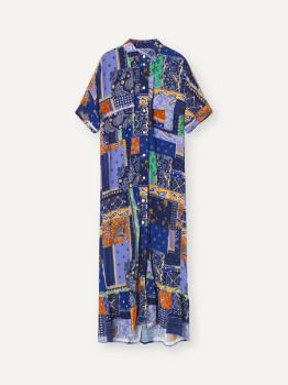 Libertine-Libertine Light Royal Blue Patch Dress - XS