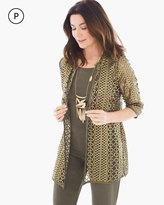 Chico's Foiled Open Lace Jacket
