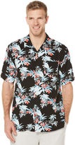 Cubavera Big & Tall Short Sleeve Retro Tropical Print Shirt