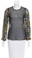 Rodarte Semi-Sheer Swiss Dot Top w/ Tags