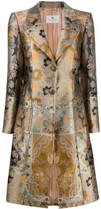 Etro Patchwork Jacquard Coat