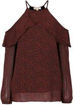 MICHAEL Michael Kors cold-shoulder frill blouse