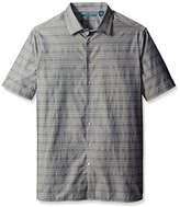 Perry Ellis Men's Big and Tall Horizontal Textured Stripe Shirt