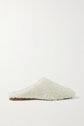 PORTE & PAIRE Shearling Slippers - Off-white