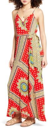 Band of Gypsies Vivian Maxi Wrap Dress