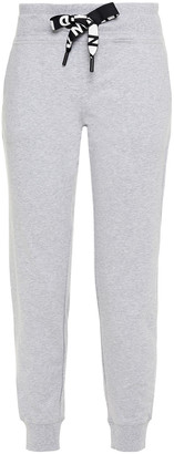 DKNY Melange French Cotton-blend Terry Track Pants
