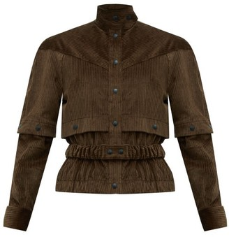 Symonds Pearmain - Press-stud Sleeve Cotton-corduroy Jacket - Womens - Brown