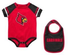 Colosseum Louisville Cardinals Infant Warner Onesie and Bib Set