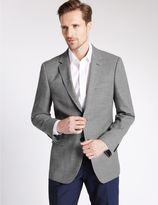 Marks and Spencer Big & Tall Textured Single Breasted Jacket