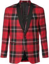 Versace plaid tuxedo jacket