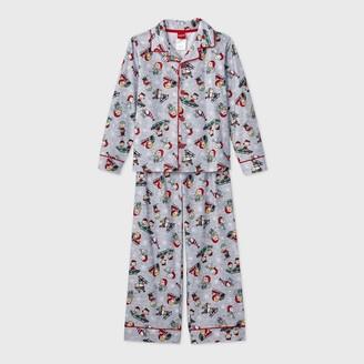 Peanuts Boys' Holiday 2pc Coat Pajama Set -