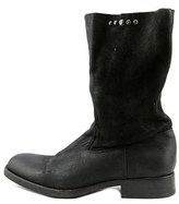 HTC Sienna Round Toe Suede Mid Calf Boot.
