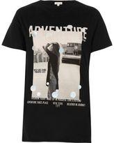River Island Womens Black metallic print T-shirt