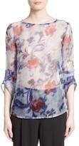 Armani Collezioni Women's Floral Print Silk Organza Tunic