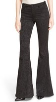 Alice + Olivia Women's 'Ryley' Animal Print Velour Flare Leg Pants