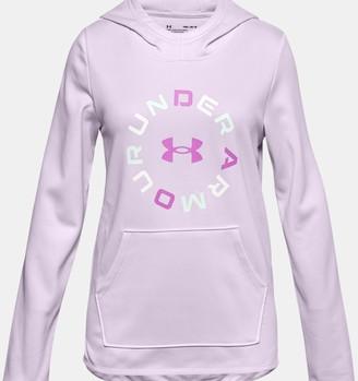 Under Armour Girls' Armour Fleece Graphic Wordmark Hoodie