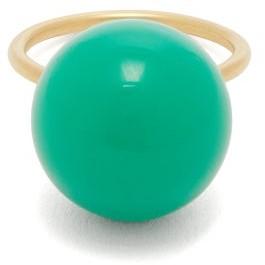 Irene Neuwirth Chrysoprase & 18kt Gold Ring - Green