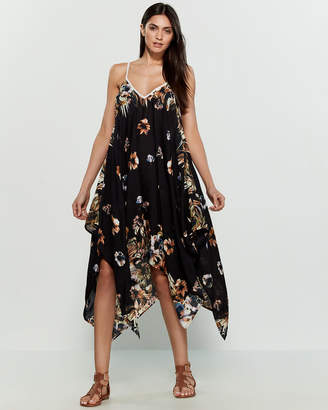 Accessory Street Palm Floral Swim Cover-Up Dress