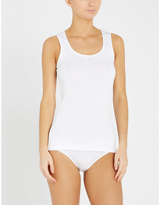 Hanro Sea Island cotton vest top