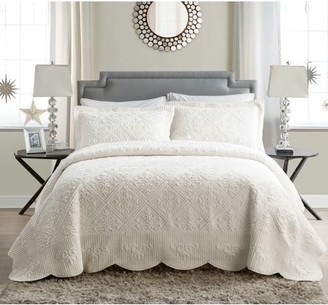 Vcny Home VCNY Home Westland Quilted Plush Queen Bedspread Set