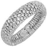 AZ Collection Swarovski Crystal Silver Plated Bracelet