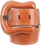 Fendi Leather Buckle Waist Belt