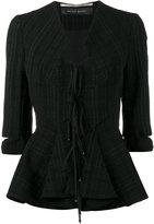 Roland Mouret Hanover fitted jacket - women - Polyamide/Polyester/Spandex/Elastane/Virgin Wool - 10