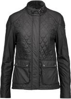 Belstaff Aynsley velvet-trimmed quilted shell jacket