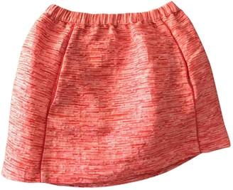 Maje Spring Summer 2018 Pink Cotton Skirt for Women