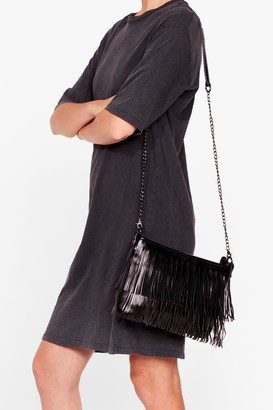 Nasty Gal Womens WANT For the Fringe of It Crossbody Bag - Black - One Size