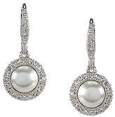 Nadri Pave Faux-Pearl & Crystal Drop Earrings