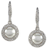 Nadri Pave Pearl & Crystal Drop Earrings