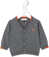 Armani Junior contrast cardigan - kids - Cotton/Wool - 9 mth
