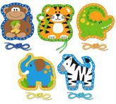 Stephen Joseph Zoo Lacing Cards (Set of 5)