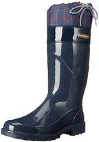 Tommy Hilfiger Women's Deluge Rain Boot, Blue, 9 M US