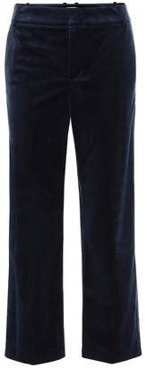 Vince High-rise cropped velvet pants