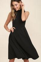 LuLu*s Make Your Pointe Dark Green Midi Dress