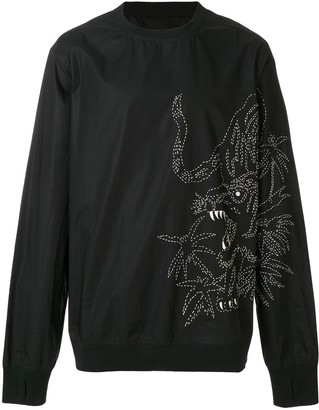 MHI oversized embroidered sweatshirt