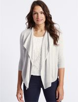Marks and Spencer Lace Front 3/4 Sleeve Cardigan