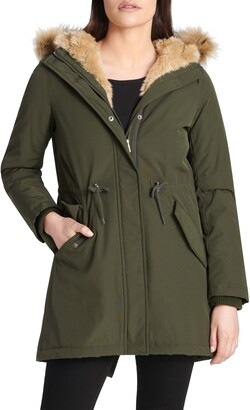 Levi's Arctic Cloth Water Resistant Hooded Parka with Removable Faux Fur Trim